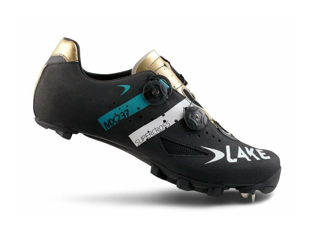 Tretry LAKE MX237 SuperCross černo/zlato/modré