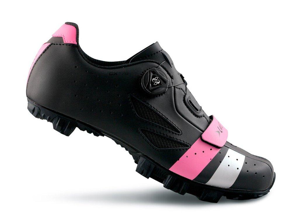Tretry LAKE MX176 černo/růžovo/stříbrné