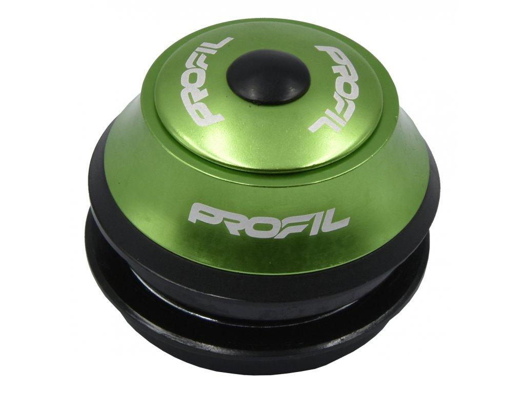 """řízení PROFIL H148 1-1/8"""" semi-integr.15mm zelené"""