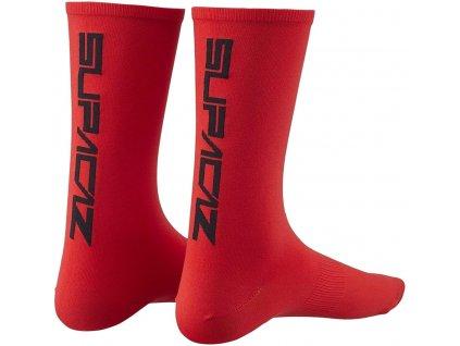 ponožky Supacaz Straight Up SL červené vel. S-M