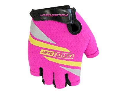 rukavice Active Baby růžové vel.4