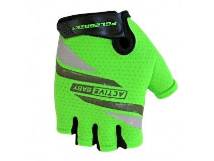 rukavice Active Baby zelené vel.5