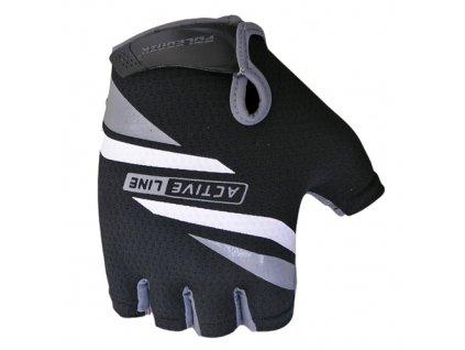 rukavice Active černo-šedé vel.M