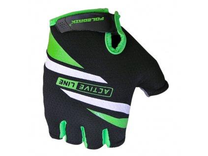rukavice Active černo-zelené vel.M