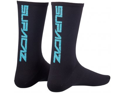 ponožky Supacaz Straight Up černo-modré vel. S-M