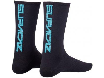 ponožky Supacaz Straight Up černo-modré vel. L-XL
