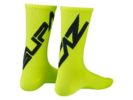 ponožky Supacaz Twisted černo-žluté M
