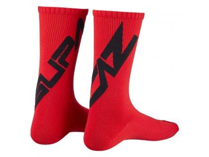 ponožky Supacaz Twisted černo-červené M