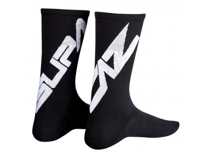 ponožky Supacaz Twisted černo-bílé L