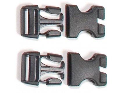"ORTLIEB Přezky ""Stealth"" Rack-Pack (2x set - 25 mm)"