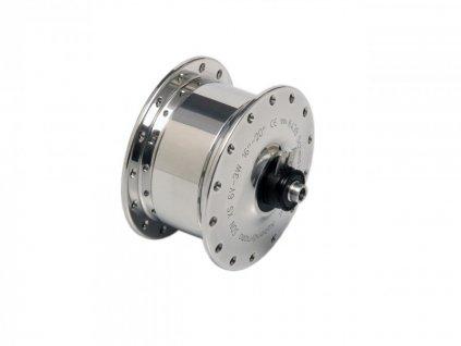 SON XS - 28 děr, V-brzdy / stříbrné (pro BROMPTON)