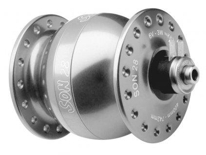 SON 28 - 36 děr, V-brzdy / Stříbná anodized