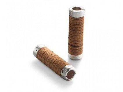 BROOKS Plump Leather Grips / Hnědá