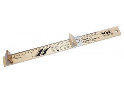 Pravítko LAKE pro měření velikosti treter
