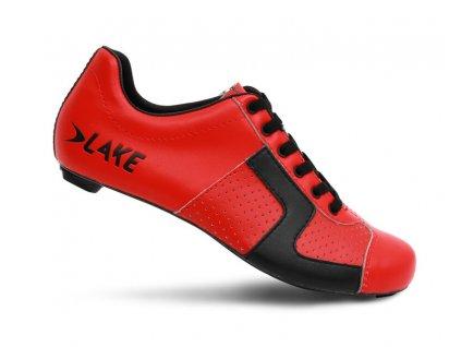 Tretry LAKE CX1C Carbon červeno/černé