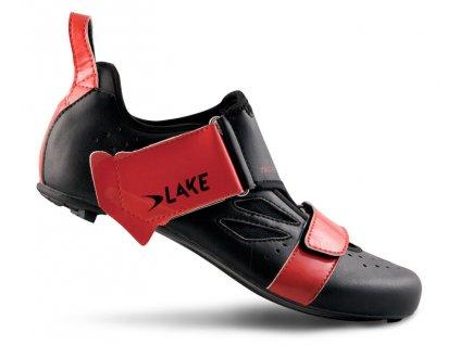 Tretry LAKE TX223 Carbon černo/červené
