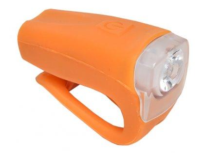 světlo přední PROFIL JY-378FU silicon 3WUSB oranž.