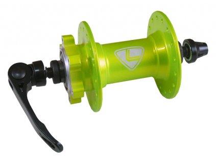náboj přední LOGIC Prime disc 32děr zelený