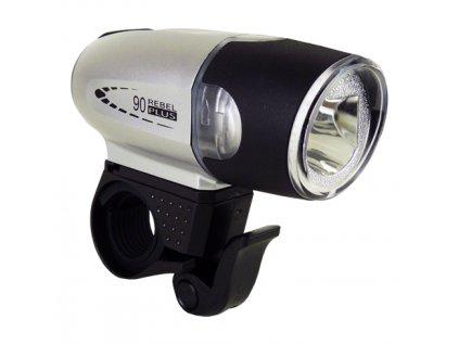 světlo přední MOON SHL-06L Luxeon LED 90lm stříbr