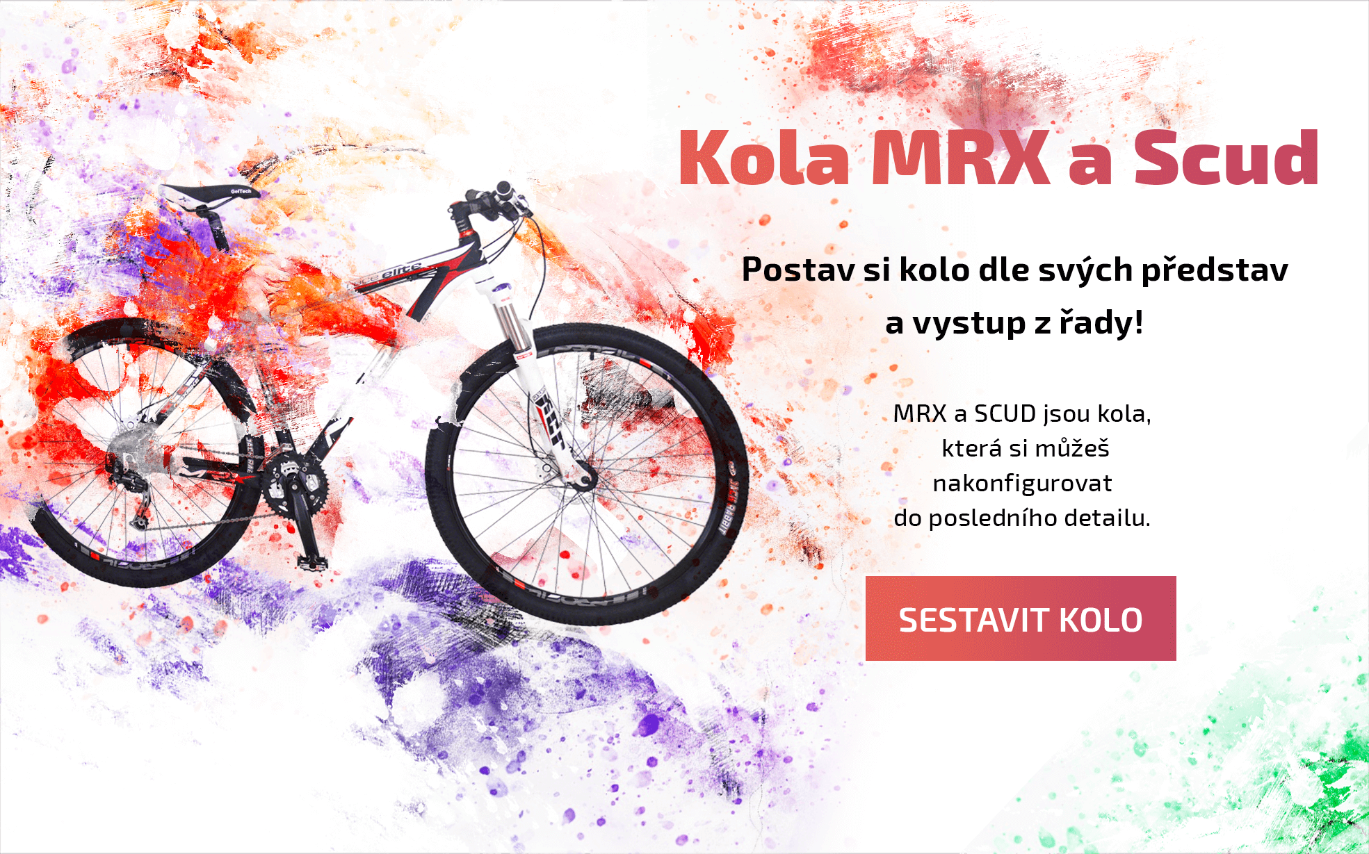 Postav si kolo dle svých představ a vystup z řady; Kola které si můžeš si nakofigurovat kolo do posledního detailu.