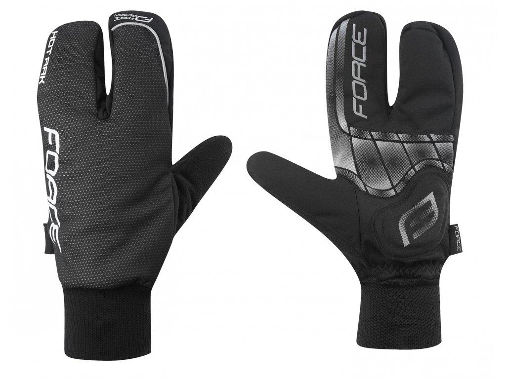 rukavice zimní FORCE HOT RAK 3-prsté