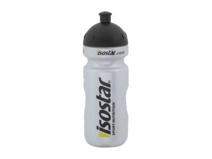 láhev ISOSTAR 0,65 l, výsuvný vršek, stříbrná
