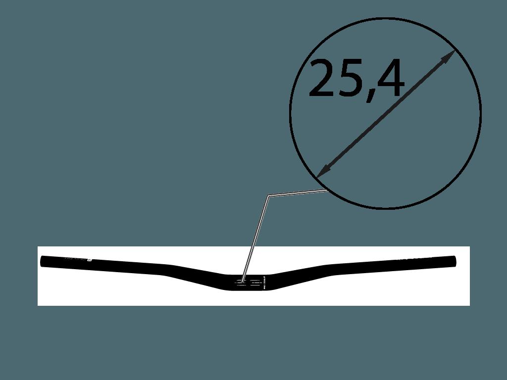 Řídítka na kolo průměr 25,4