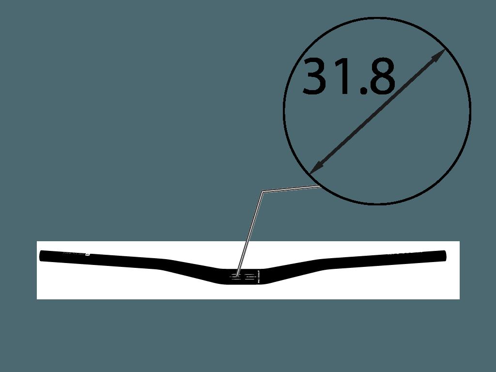 Řídítka na kolo průměr 31,8