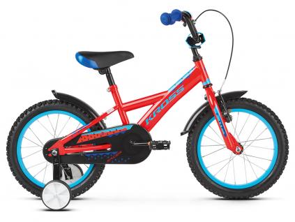 Kross racer 3 0 czerwony niebieski polysk detske kolo 16 palcu