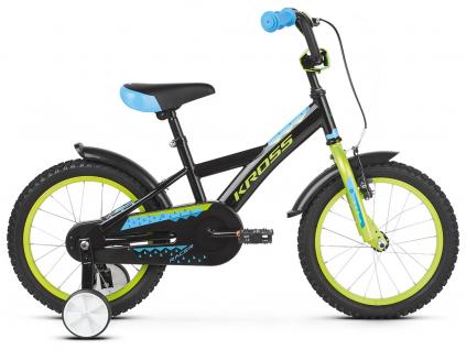 Kross racer 3 0 czarny limonkowy niebieski polysk kolo detske 16 palcu