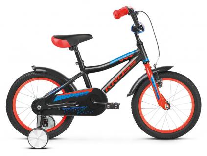 Kross racer 4 0 czarny czerwony niebieski polysk detske kolo 16 palcu