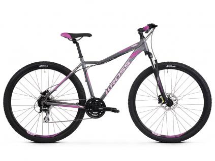 Kross lea 5 0 grafitowy rozowy fioletowy mat horske damske kolo 29 palcu