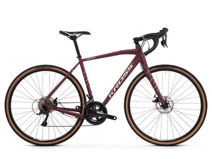 Kross esker 2 0 wisniowy srebrny mat gravel bike 28 palcu
