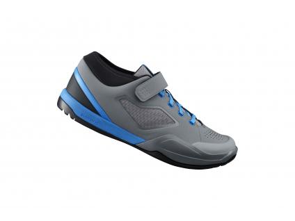 SHIMANO MTB obuv SH-AM701MG, šedá modrá, 47