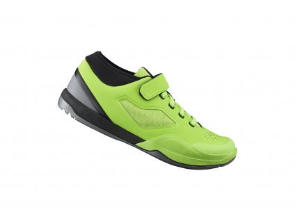 SHIMANO MTB obuv SH-AM701MR, LIME zelená, 44