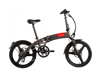 Skládací elektrokolo S-Bikes F50e | Stříbrná
