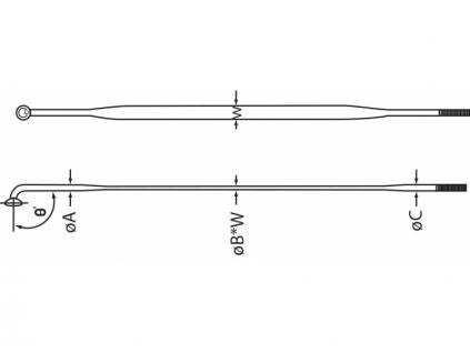 cnSPOKE drát do kola aero 2 mm délka 256 mm