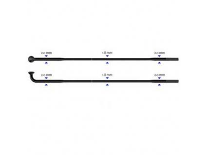 Zeslabovaný drát Sapim Race 2-1,8-2 mm  292 mm