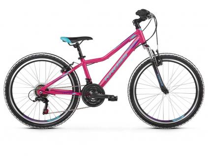 """KROSS LEA JR 1.0 SR 2021 24"""" (pink/blue/violet)   Dětské kolo"""