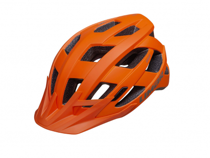 oranžová helma na kolo Limar alben
