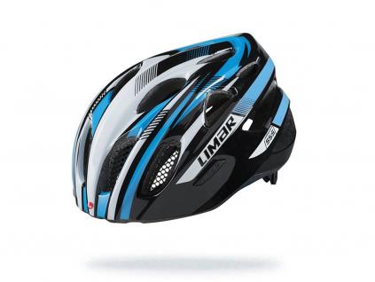 modro bílá helma na kolo limar 555 black white blue