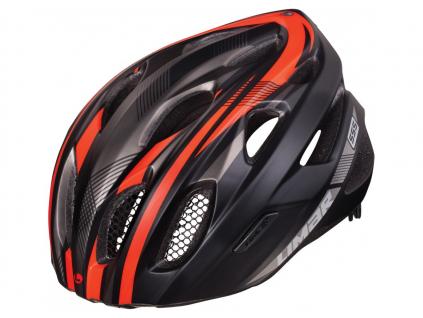 červeno černá helma na kolo limar 555 MATI BLACK BRIGHT RED