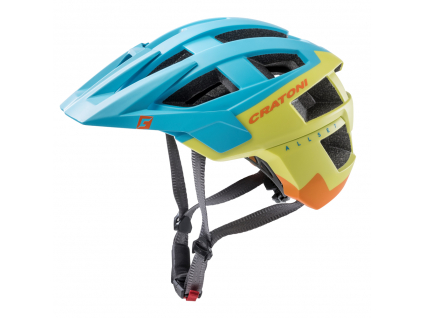 Enduro helma Cratoni ALLSET  blue-lime-orange matt