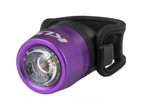 Přední světlo na kolo LED dobíjecí USB IO, purple