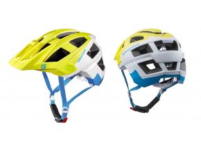 Enduro helma Cratoni ALLSET  lime-white-blue matt