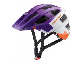 Enduro helma Cratoni ALLSET  violet-white-orange matt