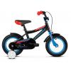 Kross racer 2 0 czarny niebieski czerwony polysk detske kolo 12 palcu