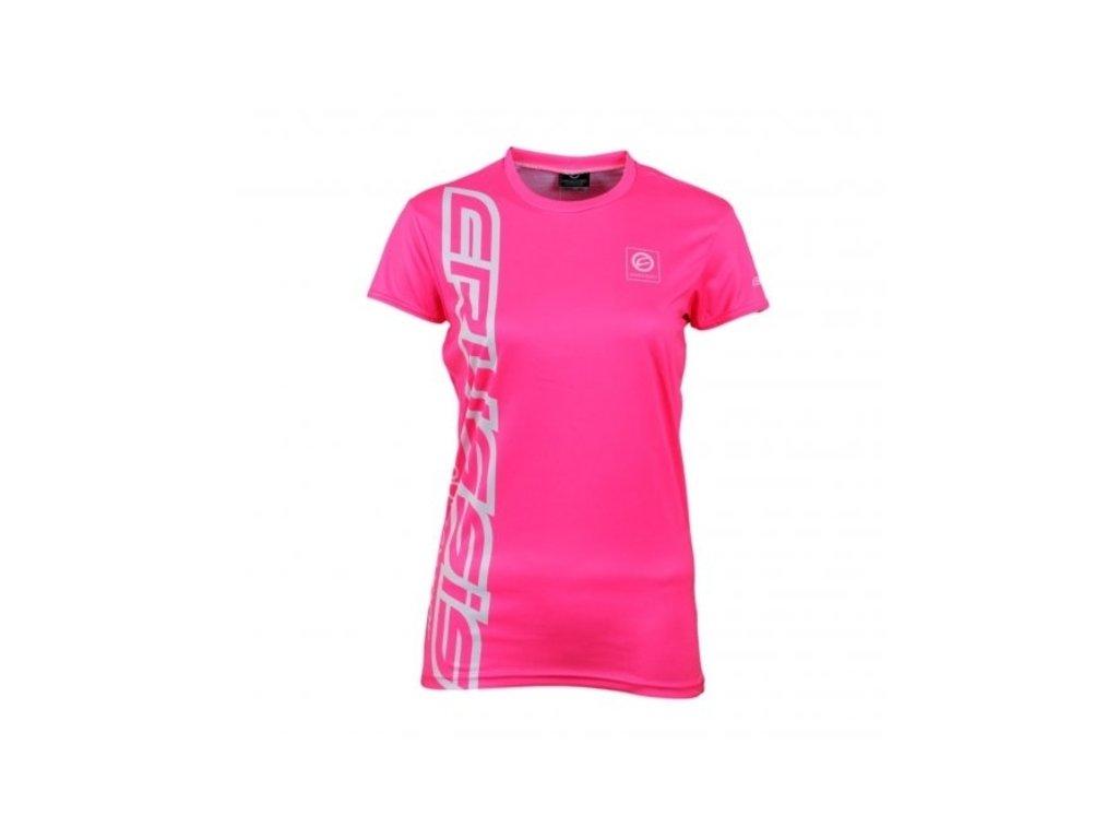 Dámské triko s krátkým rukávem CRUSSIS růžové