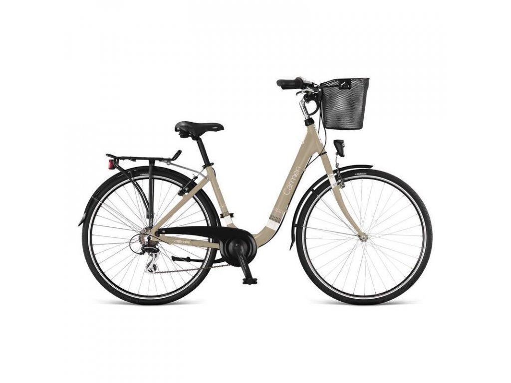 bicykel dema carmen 7sp beige white