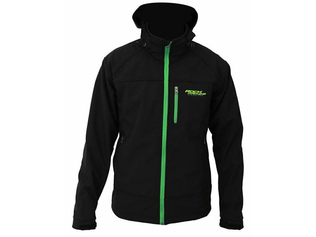 Rock Machine bunda Softshell men, černo/zelená, vel. XL
